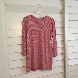 Old Navy luxe red and white striped tunic